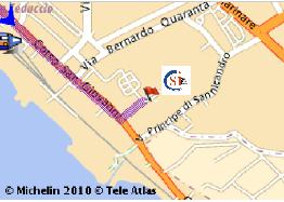 indicazione su cartina geografica